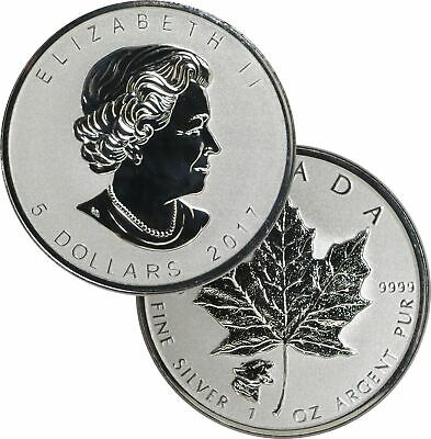 2017 $5 CAD Reverse Proof Canadian Maple Leaf Cougar Privy 1 oz .9999 Silver