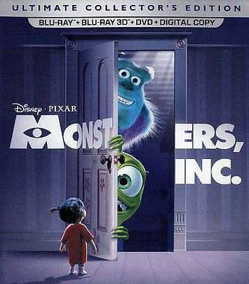 Blu-Ray 3D Monsters Inc Collector's Edition +Dvd Blu-Ray 5-Disc Combo Disney's