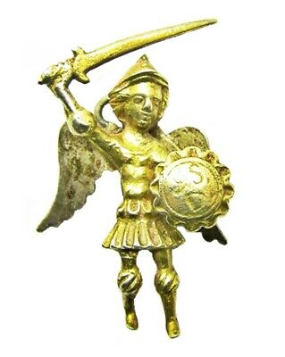 17th century Renaissance silver-gilt devotional pendant of archangel Michael