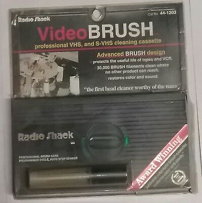 Radio Shack Video Brush Professional VHS & S-VHS VCR Cleaning Cassette # 44-1203