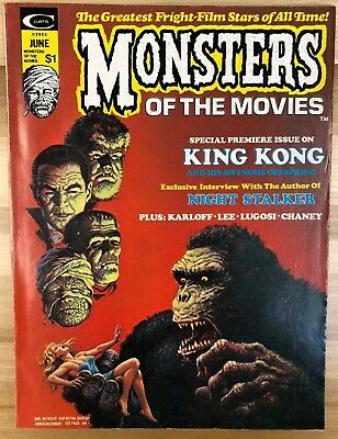 MONSTERS OF THE MOVIES #1 (1974) Marvel Comics B&W magazine Barry Smith FINE