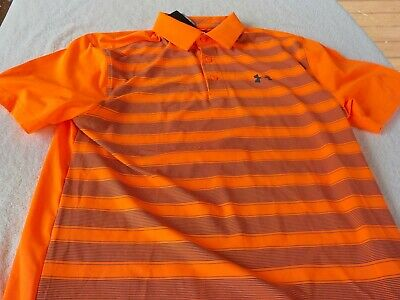 /& gray NWT Under Armour Heat Gear polo red mens 5XL $55 pointed collar