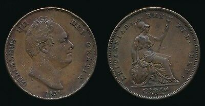 1831 William IV - Copper PENNY.....W.W on Truncation......Fast Post