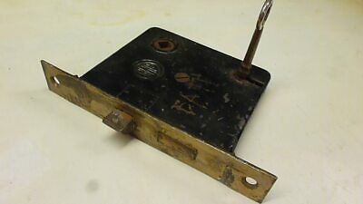 Antique Vintage RH Co. Iron and Brass? Mortise Lock Works With Key