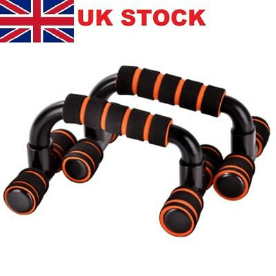1Pair Push Up Bars Stand Foam Handles for Chest Press Pull Gym Fitness Exercise