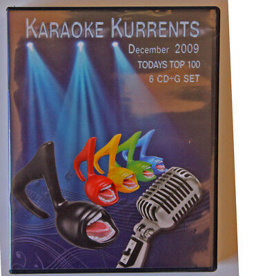 KARAOKE CD+G December 2009 Kurrent 6 Disc set in New Case