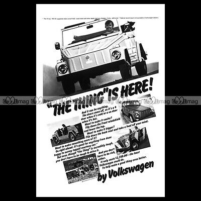#phpb.001361 Photo VOLKSWAGEN 181 THING 2 A4 Advert Reprint