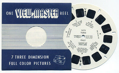 TURIN Italy 1959 Scarce Belgian-made ViewMaster Single Reel 1675