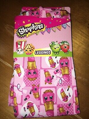 Shopkins Sz 6 Pink Lippy Lips Leggings Pants Girls