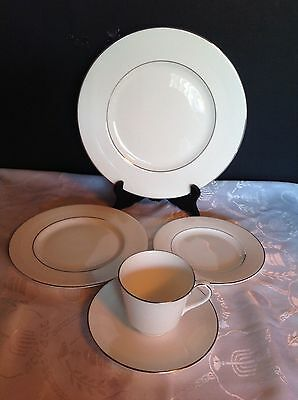 Royal Doulton Amulet Pattern 5 Pc Place Setting Cup Saucer Side Salad Dinner #4