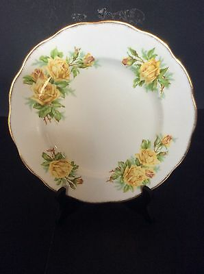 "Royal Albert Bone China Tea Rose Yellow Rose Dinner Plate 10"" Across"