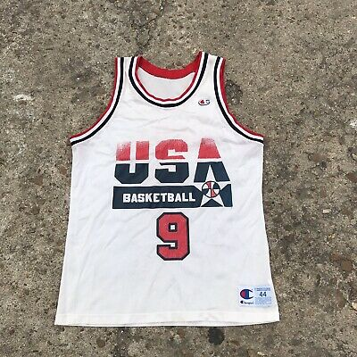 607742f65f4 Vintage Champion Jersey Size 44 USA Basketball  9 Jordan Chicago Bulls NBA