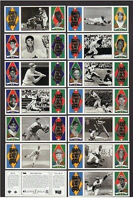1993 Upper Deck ALL-TIME HEROES T202-style: SET of 165 | Mickey~Willie~Babe~Ty+