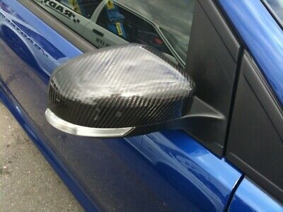 Real Carbon Fibre Side Wing Mirror Covers Caps Ford Focus Mk2 Mk3 St Rs Cdti 500