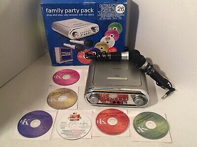 Vaughn Family Party Pack Plug And Play Cdg Karaoke With Six Discs