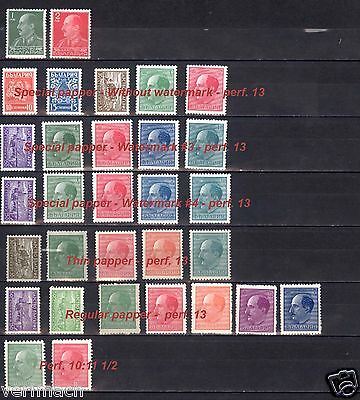 BULGARIA 1940 to 1944 DEFINITIVE  KING BORIS AGRICULTURE FULL SET  MNH **