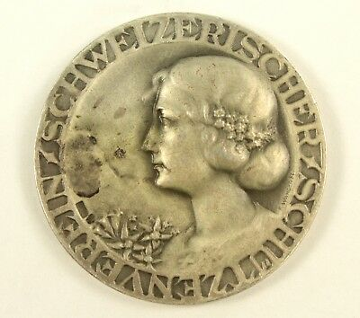 ! Antique c.1900 Swiss Art Nouveau Silver Shooting Sport Medal F. WANGER SSV