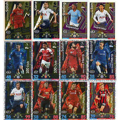 Match Attax Extra 2018/19 18/19 Le, 100 Club, Hth, Man Of The Match, 2+1 Free!