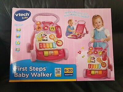 VTech First Steps Baby Walker (Pink) Baby Toddler Boxed Excellent Con