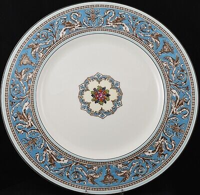 """Stunning Wedgwood Turquoise Florentine 10¾"""" Inch Dinner Plate W2714"""