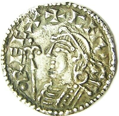 1016 - 1035 A.D. Silver Penny of King Cnut Moneyer Morulf of Stamford