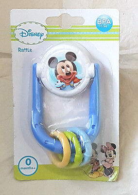 Disney Mickey Mouse Rattle 0 Mths + Bpa Free  New