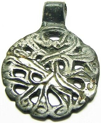 10th - 11th century Scandinavian Viking Sigurd Gripping Beast Pendant Tin Bronze