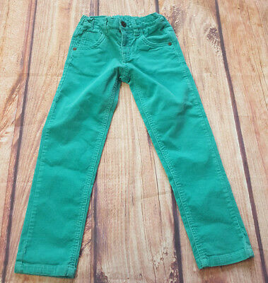 Marks & Spencer 5-6 Years Green Corduroy Trousers Elasticated Adjustable Waist