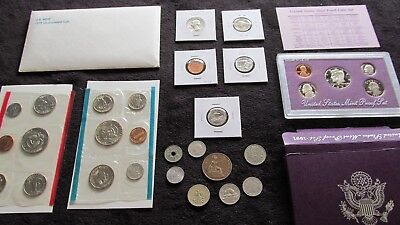 Coins Lot Mint+Proof +1951 90% Silver Quarter +54 Wheat~No Junk No Reserve~~#B51