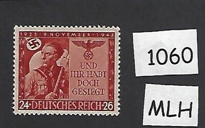 MLH  postage stamp / Nazi Germany 1943 / 20th anniversary Beer hall Putsch / MLH