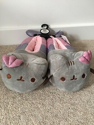 Girls Primark Pusheen Mermaid Novelty Slippers. Brand New UK SIZE 13/1 2/3 4/5