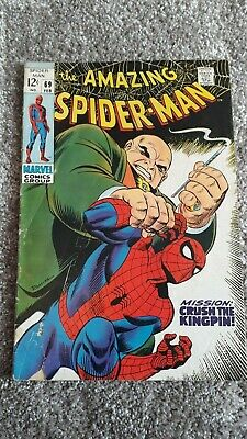 Marvel Comics The Amazing Spider-Man Number 69 - February 1969 - Original