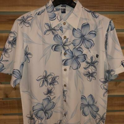 1e07fd52 Mens Toes on the Nose Modal Poly Hibiscus Floral Print Hawaiian Camp Shirt  XL