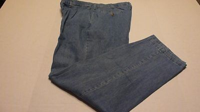 bda579f7 LEE Mens 38x32 Stonewash Relaxed Fit Pleated Front Stain Resist Blue Jeans  New