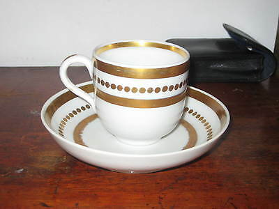 Early 19Th Century Continental Bohmens Porcelain Cup & Saucer Bowl