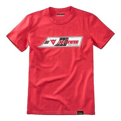Dainese Speed Leather T-Shirt rot Gr. L Tshirt Retro Vintage Motorrad Biker