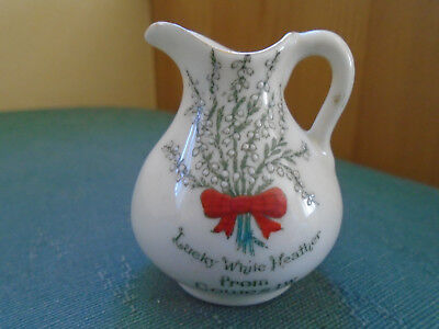 Lucky White Heather From Cowes Isle Of Wight Small Jug - Arcadian Crested China