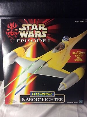 1999 Hasbro Star Wars Episode 1 Electronic Naboo Fighter Mib