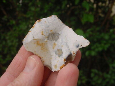 Neolithic White Patinated Flint BORER on a Core Detached Flake Woodhenge Wilts