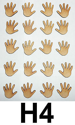50 pairs Wooden Craft Shape plaque 20mm long 3mm Mdf wood Small Baby Feet x100