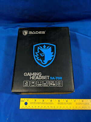 SADES SA-708 GT Gaming Headset Headphone With Microphone For PS4 PC Lap Top XBox