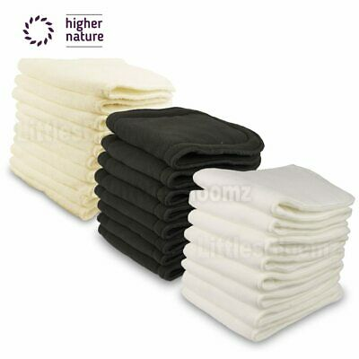 Reusable Washable Inserts Boosters Liners For Real Pocket Cloth Nappy Diaper Cov