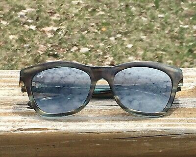 0b974d6a077 Maui Jim Sweet Leilani Sunglasses Made In Italy Mirrored Cat Eye Brown Green