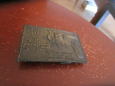 Vintage 1940's 1947 Polish Armed Guard Marksman of the Year Belt Buckle