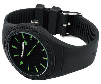 Armbanduhr Watch Fanartikel Kawasaki Orginal Neu Racing Ninja Black 186SPM0027