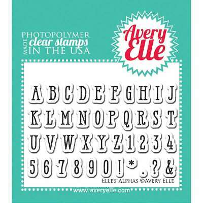 Avery Elle AE1841 Clear Stamp Set 2X3-Peacock