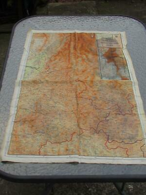 Vintage Wwii Escape Silk Paratroopers Double Sided Map China Siam / India Burma