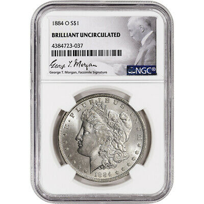 1884-O US Morgan Silver Dollar $1 - NGC Brilliant Uncirculated