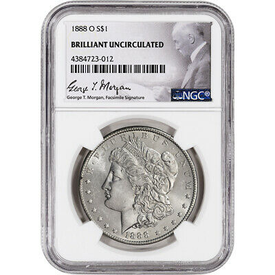 1888-O US Morgan Silver Dollar $1 - NGC Brilliant Uncirculated