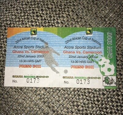 Rare Press Ticket 2000 AFRICAN CUP OF NATIONS (OPENING GAME) GHANA V CAMEROON